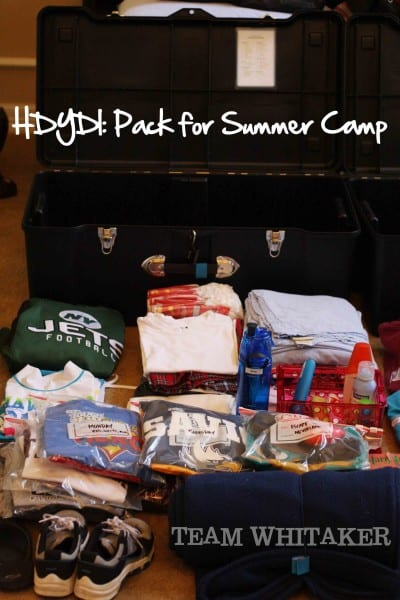 Pack for Summer Camp
