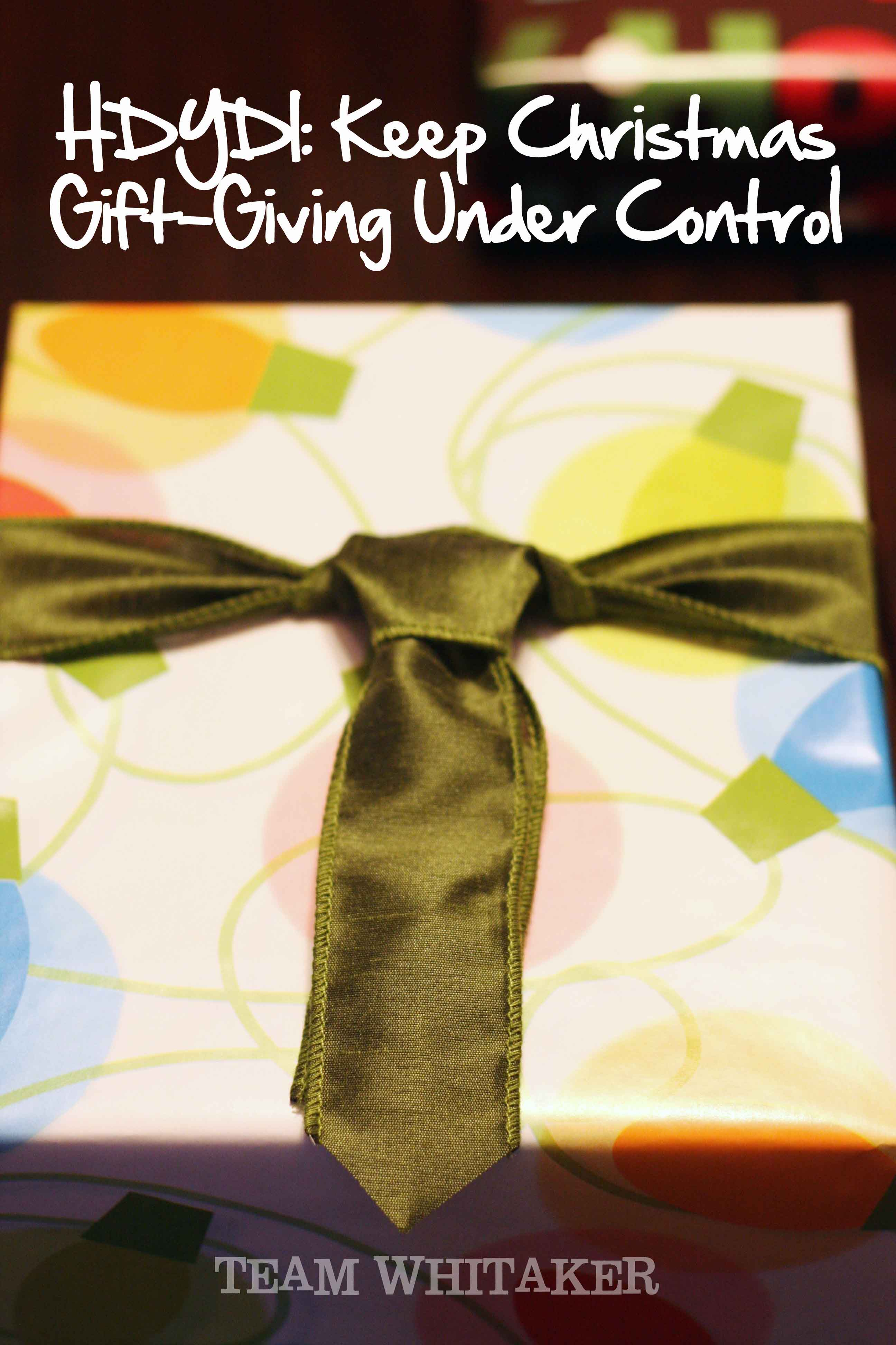 We all love gifts. We love to give them and receive them. The challenge, is keeping the gift giving under control during the holidays. Here are a few practical solutions in helping you give with purpose this Christmas.