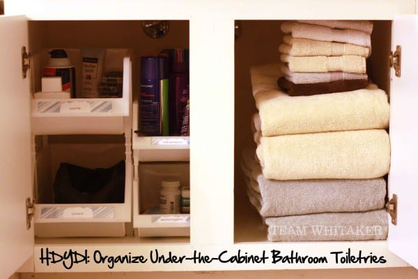 Organize Under-the-Cabinet Bathroom Toiletries