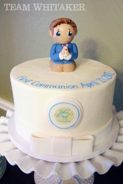 first communion cake_ blog