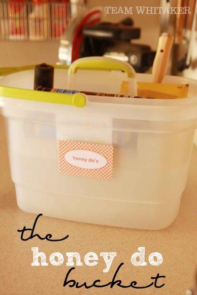 honey do bucket, header