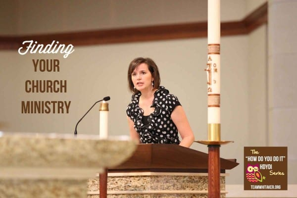 Finding your church ministry
