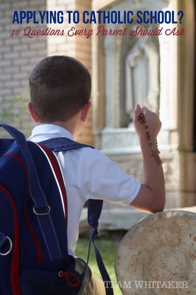 10 Questions to Ask, applying for Catholic school