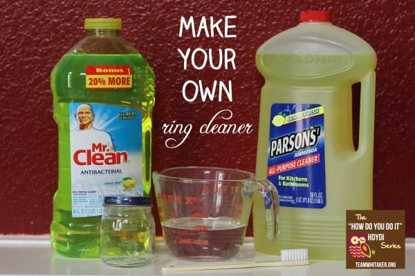Make Your Own Ring Cleaner