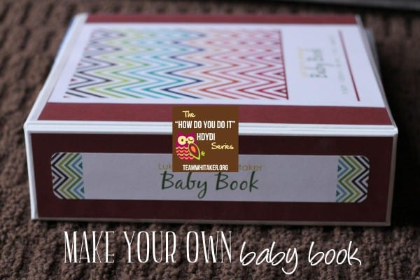 Make your own baby book