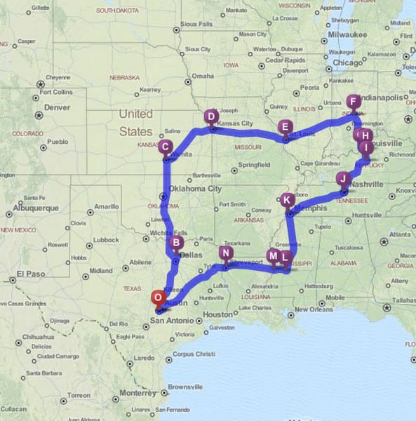 route_merica vacation
