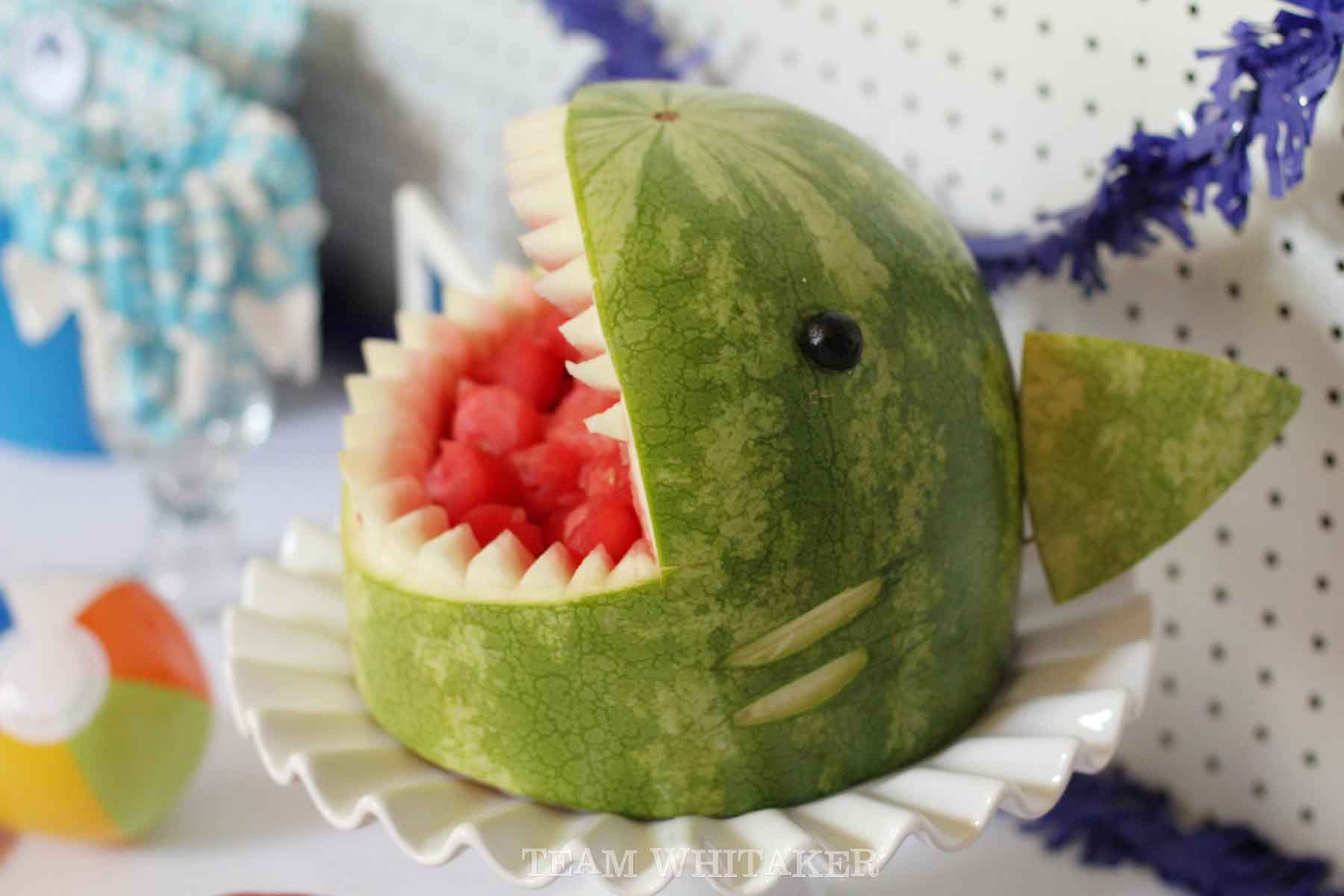 Looking for a fin-tastic birthday theme? This shark birthday party is perfect for the little boy in your life. It's full of creative party favors, shark-themed food and fun water games. Time to get your bite on. Chomp! Chomp!