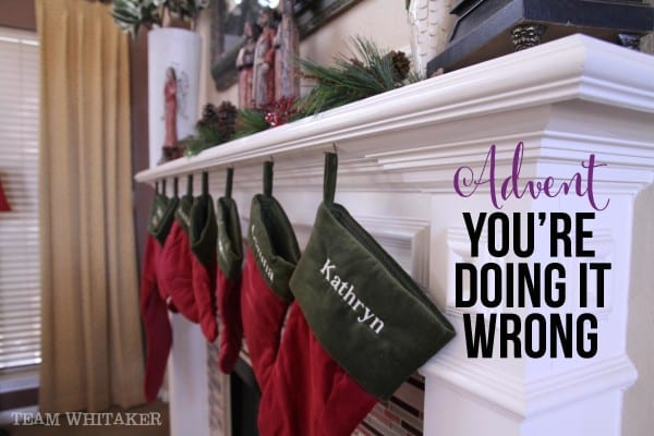 Advent just started and you're already feeling stressed. Right?! Maybe we're all just doing it wrong. At least, that's what I think.