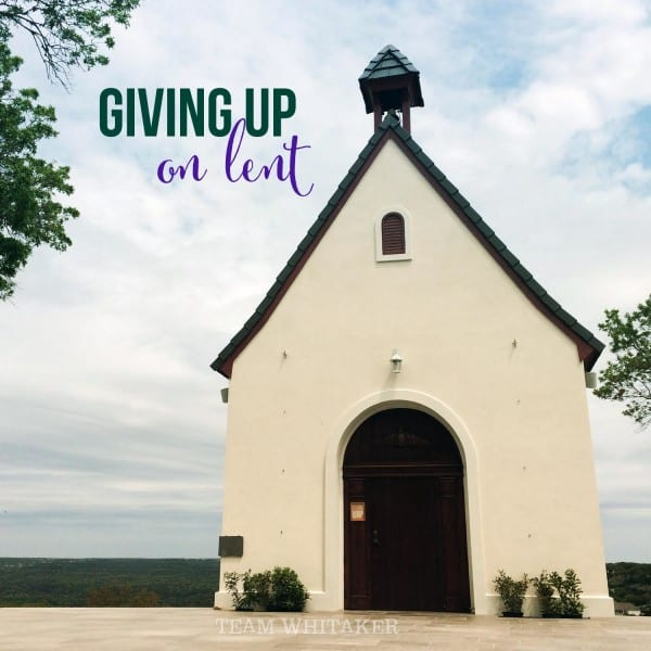 """If you've ever tried to answer the age-old question, """"What are you giving up for Lent?"""" I hope you find this post inspirational."""
