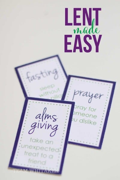 This is a fun, easy way to celebrate Lent with your kids. These free printables are a simple, but meaningful activity to do during the 40 day season, in preparation for Easter.