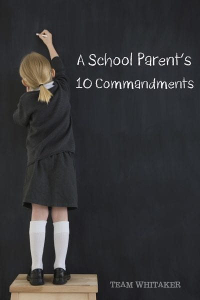 Ready for a new school year? These 10 commandments help guide our family on a stellar school year with our kids.