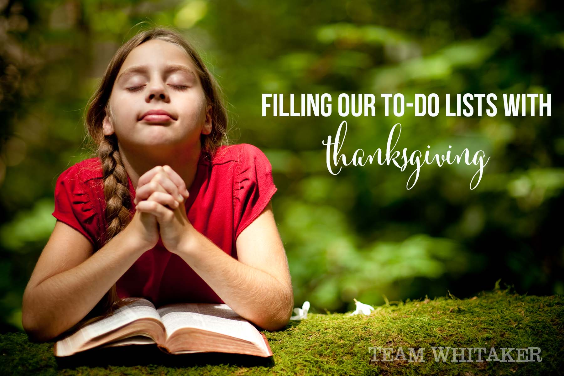 Filling our to-do lists with thanksgiving has a whole lot to do with us, and a whole less with others.
