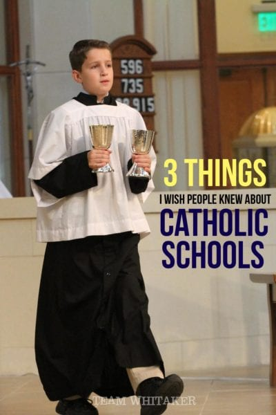 It's National Catholic Schools week and there's just three things I wish every parent of a student knew about a Catholic education.