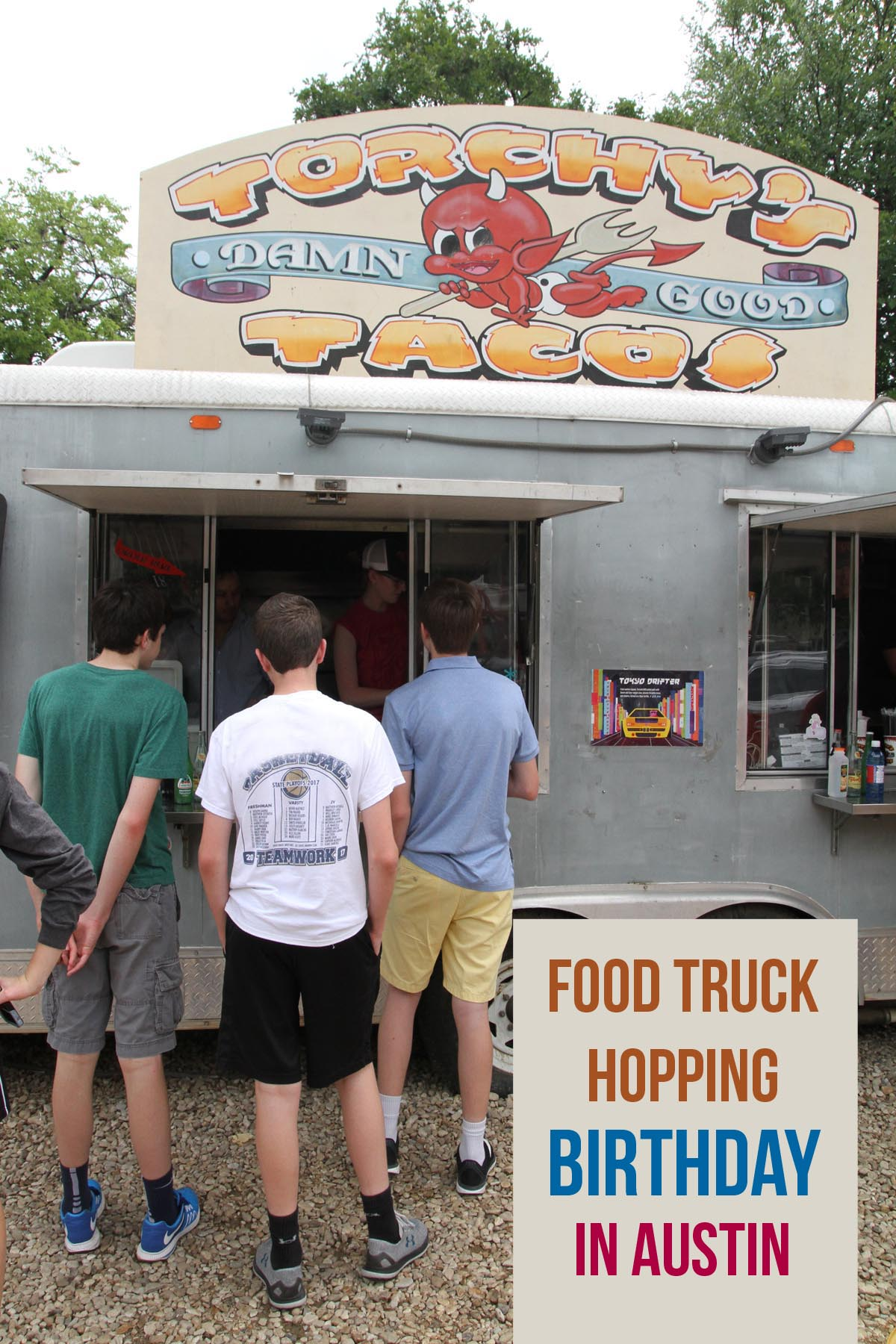 Looking for a fun, and easy, birthday for your teenager? Just feed them! Venture to any of Austin's best food trailers and maybe catch a mural or two, but be prepared to roll home.