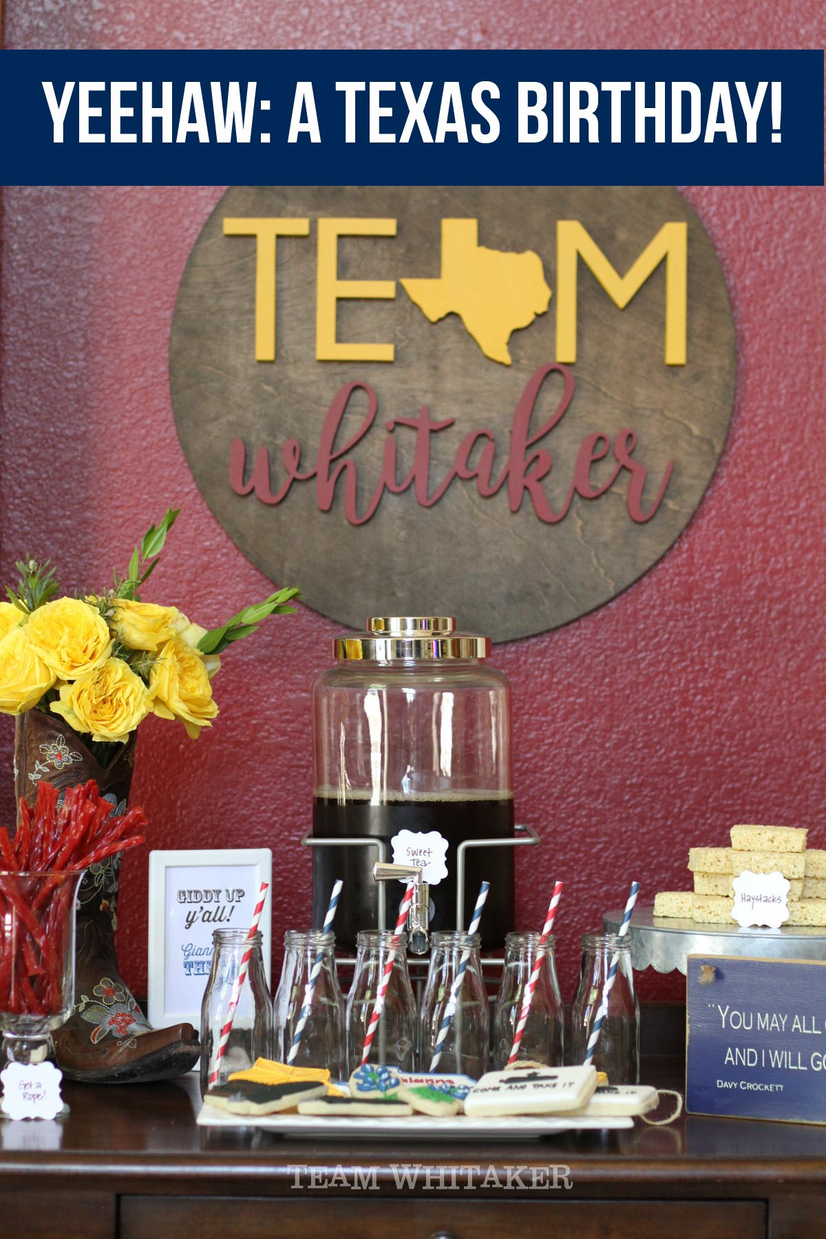 Planning a Texas-sized birthday for your son or daughter? This dessert table is sure to have some winners of ideas.