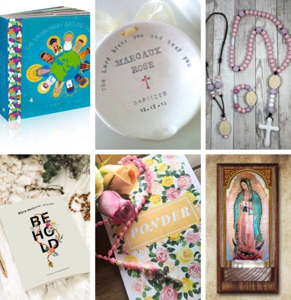 Looking for the perfect baptism gift? From board books to chewable rosaries, this post has it all!